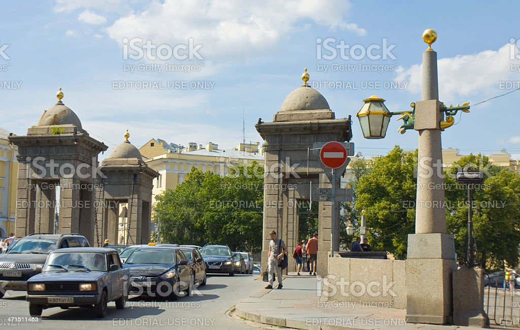 St. Petersburg, Lomonosov bridge royalty-free stock photo