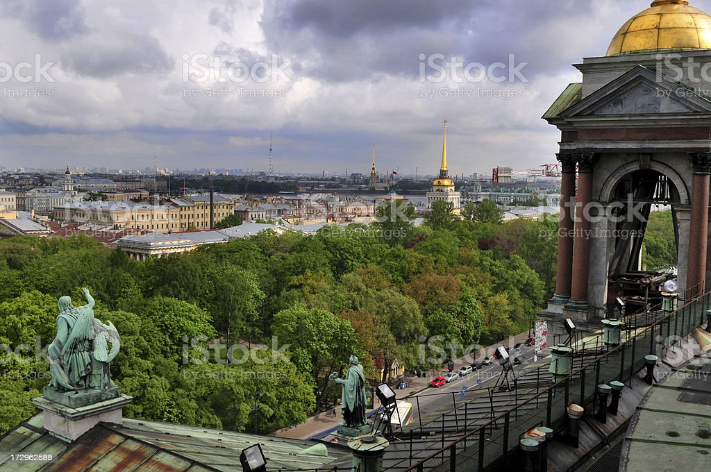 St Petersburg overview stock photo