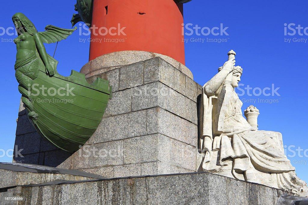St.  Petersburg . Rastralny column royalty-free stock photo