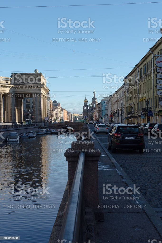 St. Petersburg, Russia AUGUST 17 2016 Kazan Cathedral, stock photo