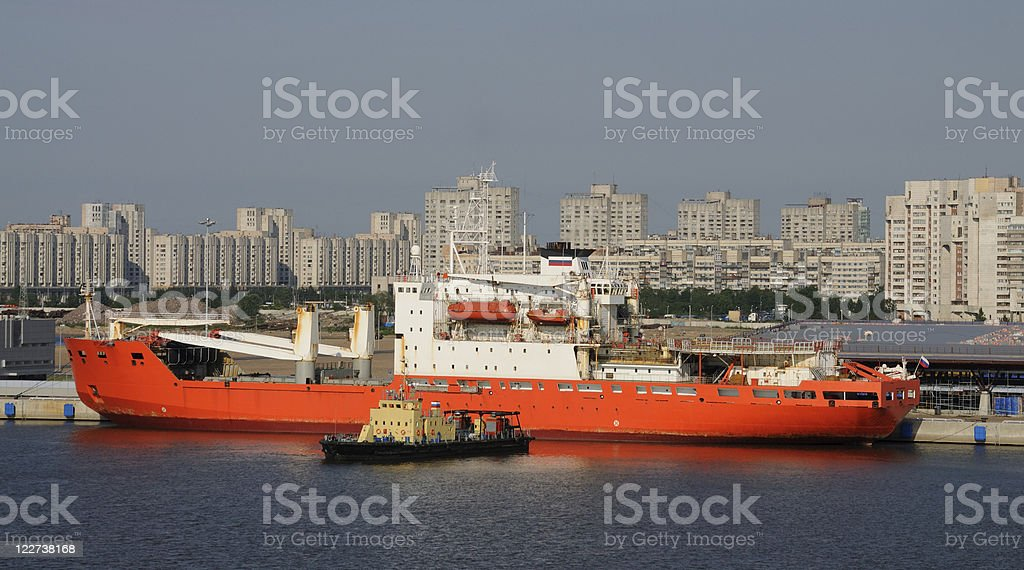 St Petersburg Shipping royalty-free stock photo