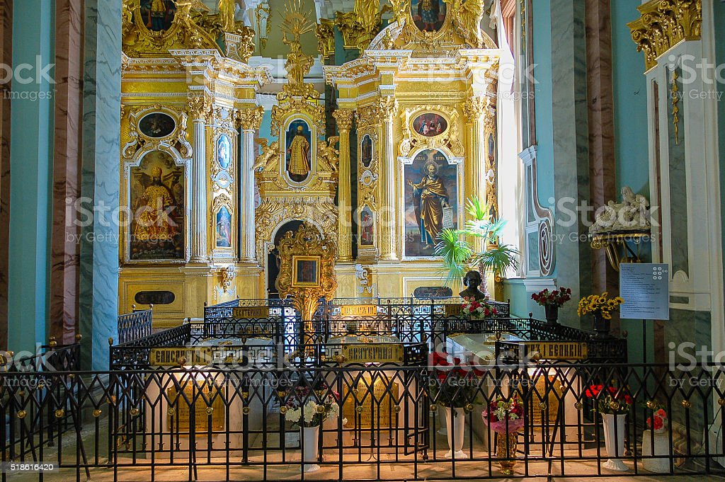 St Petersburg St Peter and Paul Cathedral stock photo