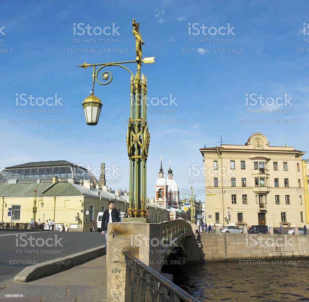 St. Petersburg, street lamp royalty-free stock photo