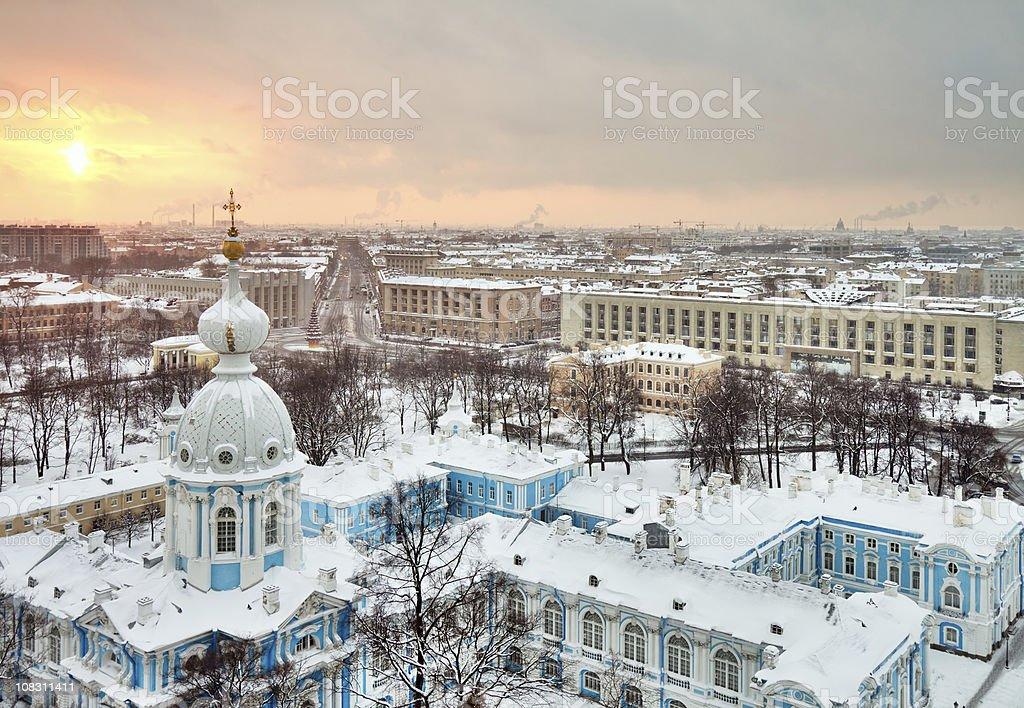 St. Petersburg winter cityscape, Russia stock photo