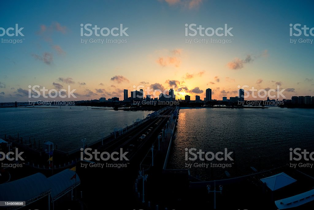St Petersburgh Skyline at Sunset royalty-free stock photo
