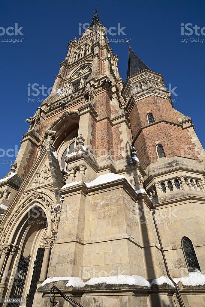 St. Petri Kirche in Chemnitz stock photo