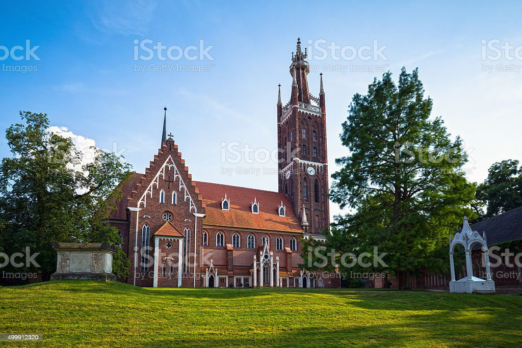 St. Petri Church in Woerlitz, Dessau, Germany stock photo