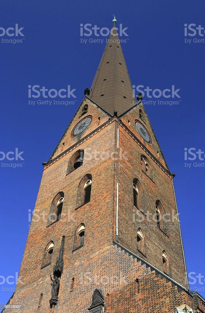 St. Petri church tower (Hamburg, Germany) stock photo