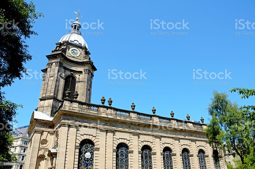 St Philips cathedral, Birmingham. stock photo