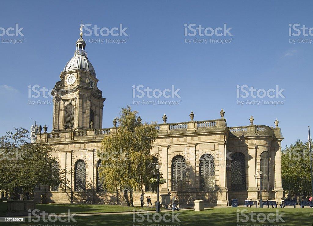 St Philips Cathedral Birmingham UK royalty-free stock photo