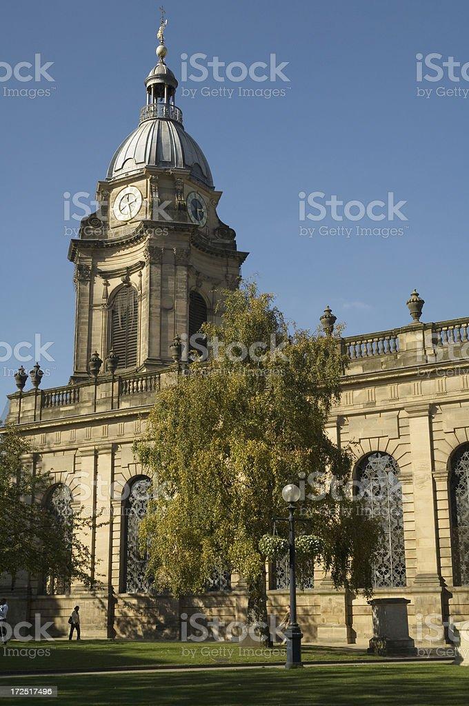 St Philips Cathedral Birmingham UK stock photo
