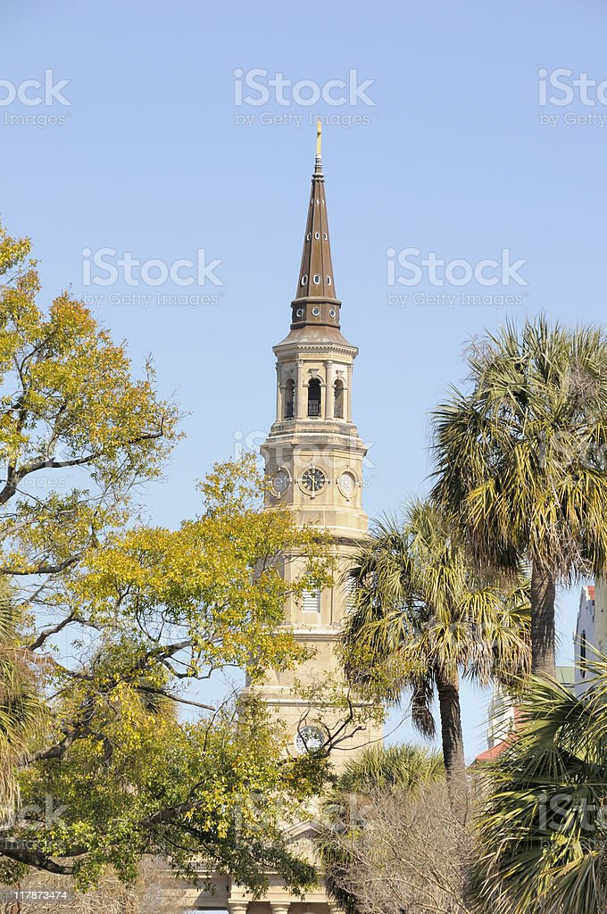 St. Philips Episcopal, Charleston stock photo