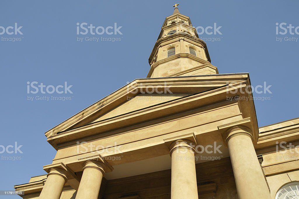 St Philips Episcopal, Charleston, South Carolina stock photo