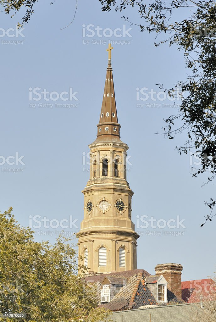 St Philips Episcopal, Charleston, South Carolina. stock photo