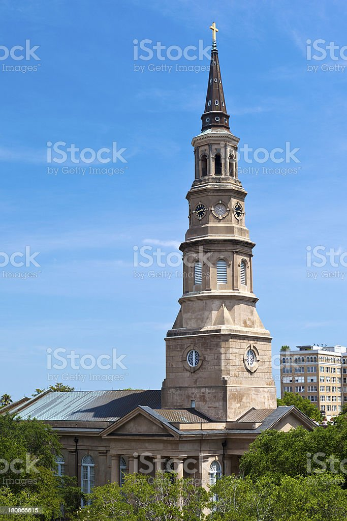St. Philip's Episcopal Church In Charleston, South Carolina royalty-free stock photo