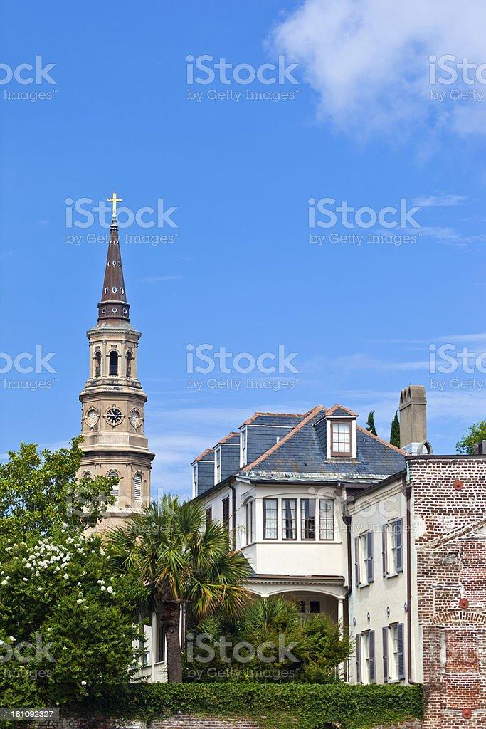 St. Philip's Episcopal Church In Charleston, South Carolina royalty-free stock photo