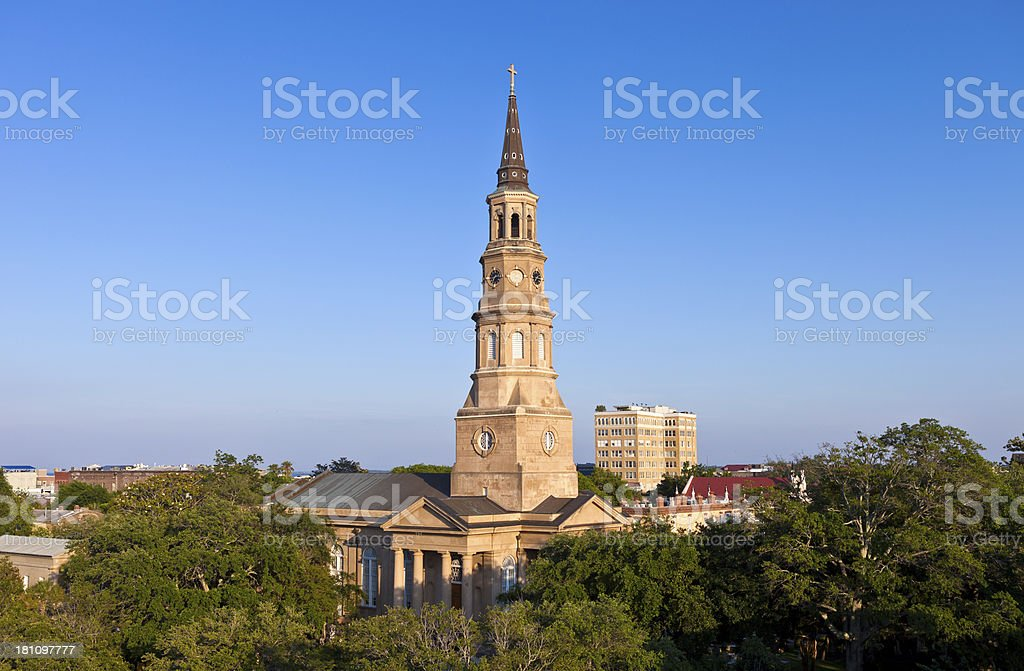 St. Philip's Episcopal Church In Charleston, South Carolina stock photo