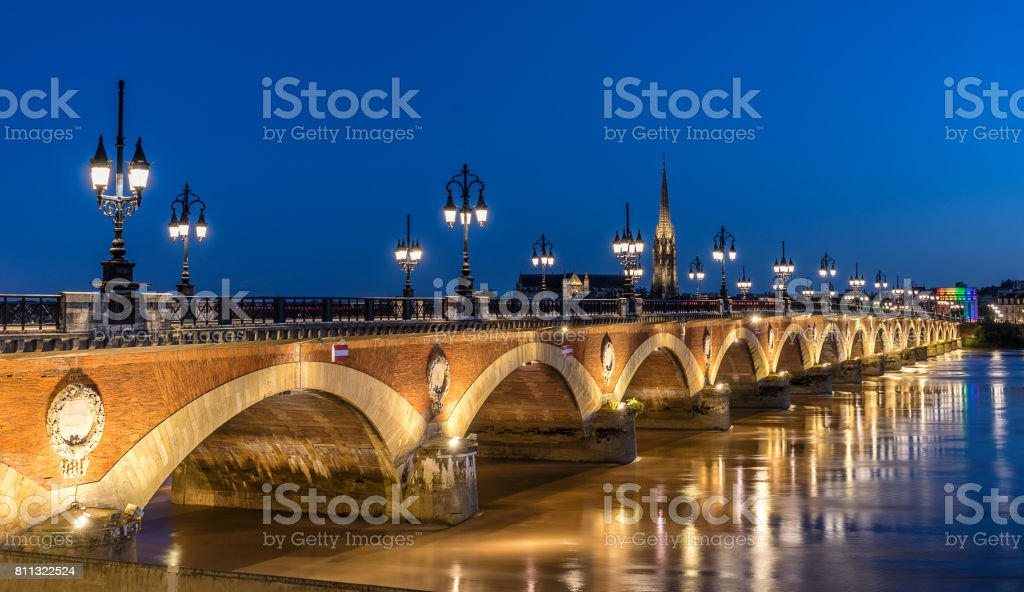 Pont St Pierre stock photo