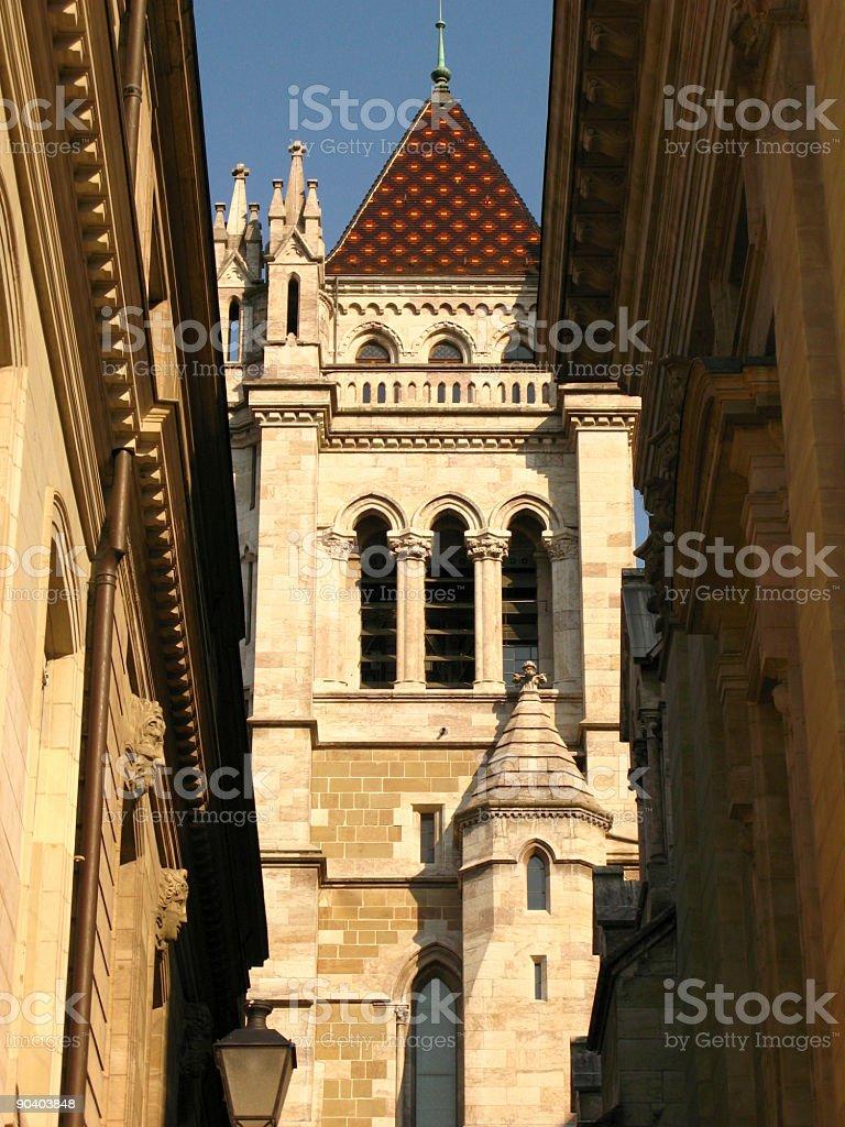 St. Pierre Cathedral detail, Geneva, Switzerland royalty-free stock photo