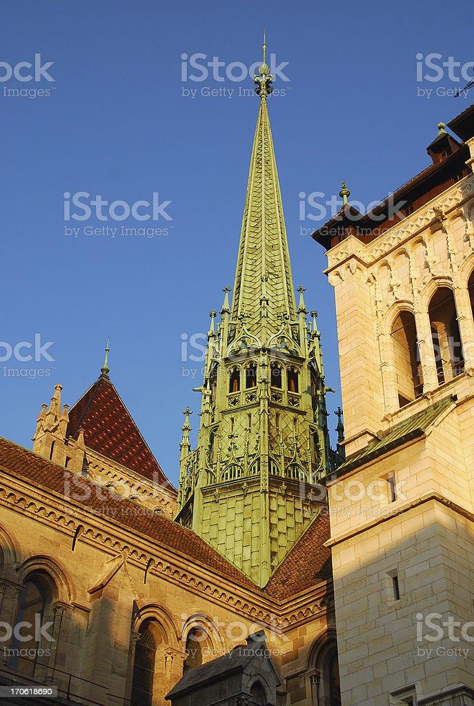 St Pierre Cathedral Geneva stock photo