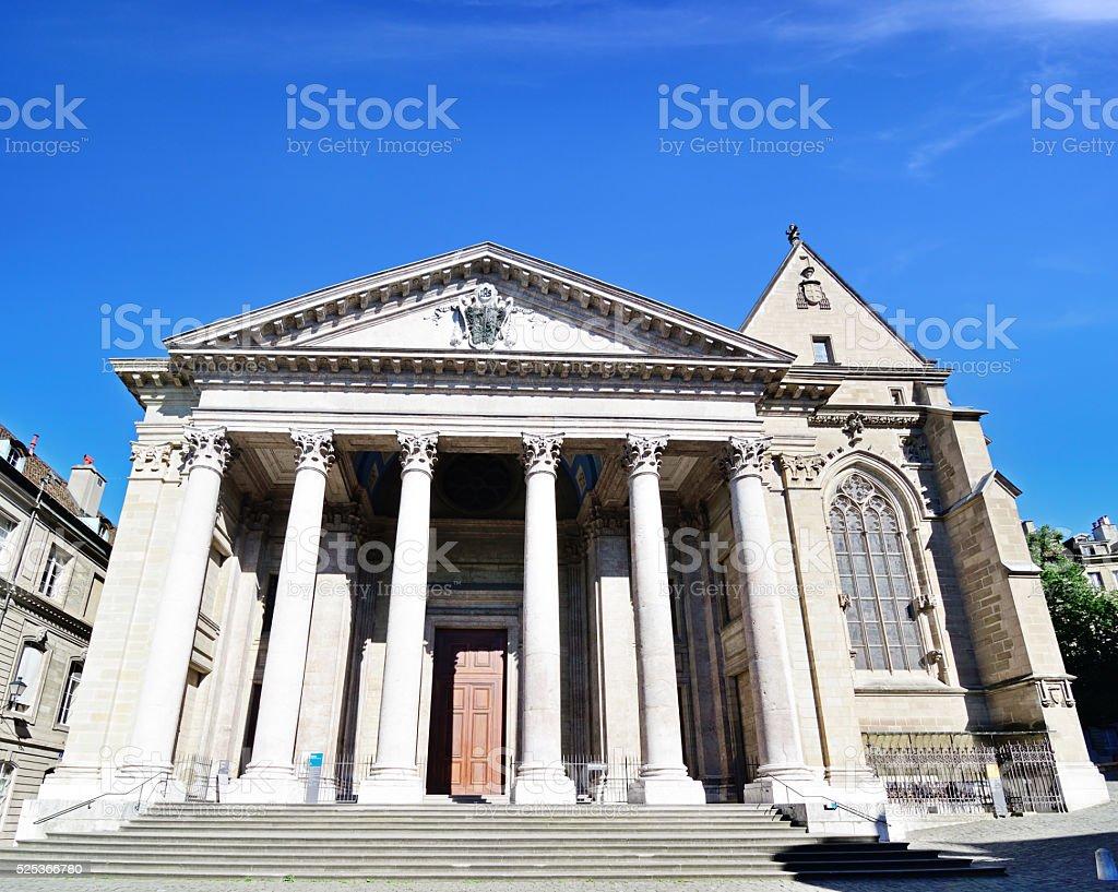 St. Pierre Cathedral, Geneva stock photo