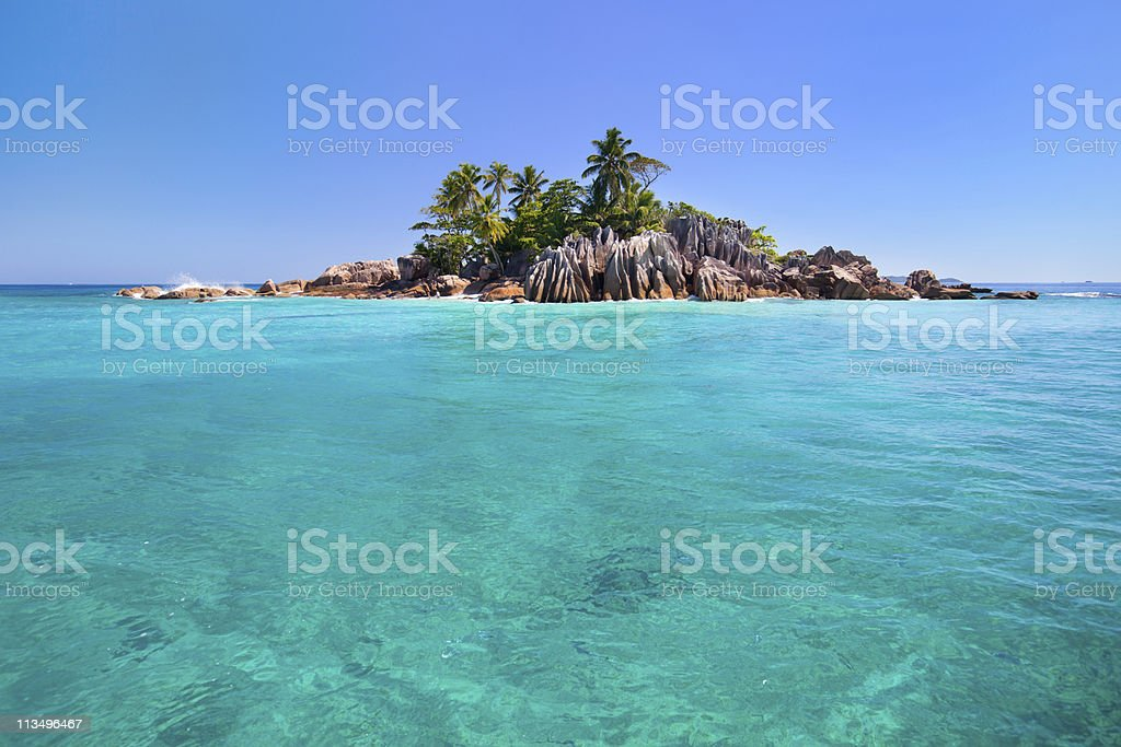 St Pierre island in Seychelles stock photo