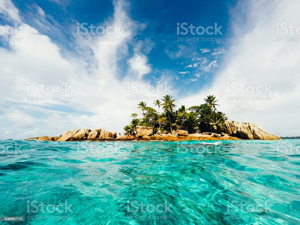 St Pierre Island - Seychelles stock photo