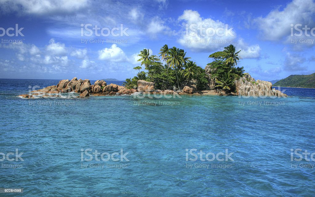 St Pierre Island Seychelles stock photo