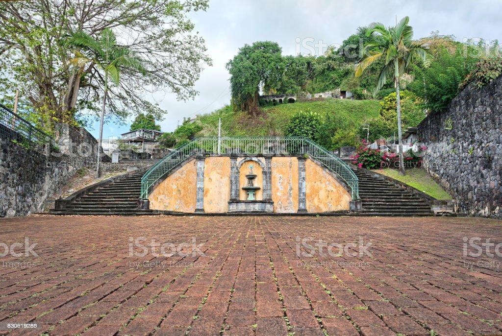 St Pierre, Martinique, amphitheater stock photo