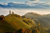 St. Primoz church near Jamnik, Slovenia