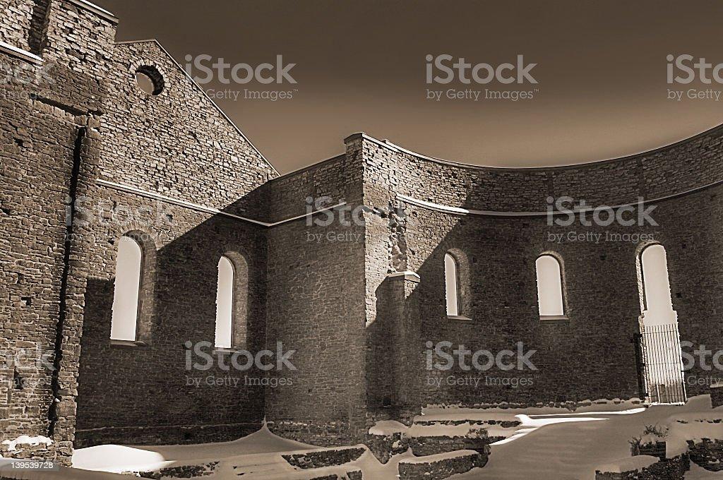 St. Raphael's ruins royalty-free stock photo