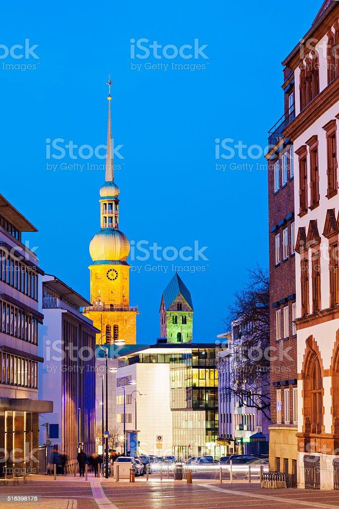 St. Reinoldi Church in Dortmund stock photo