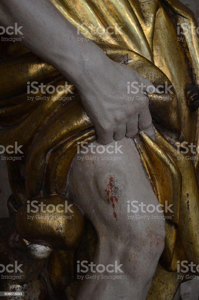 St Roch statue at St Sernin Church, Tolouse - France stock photo