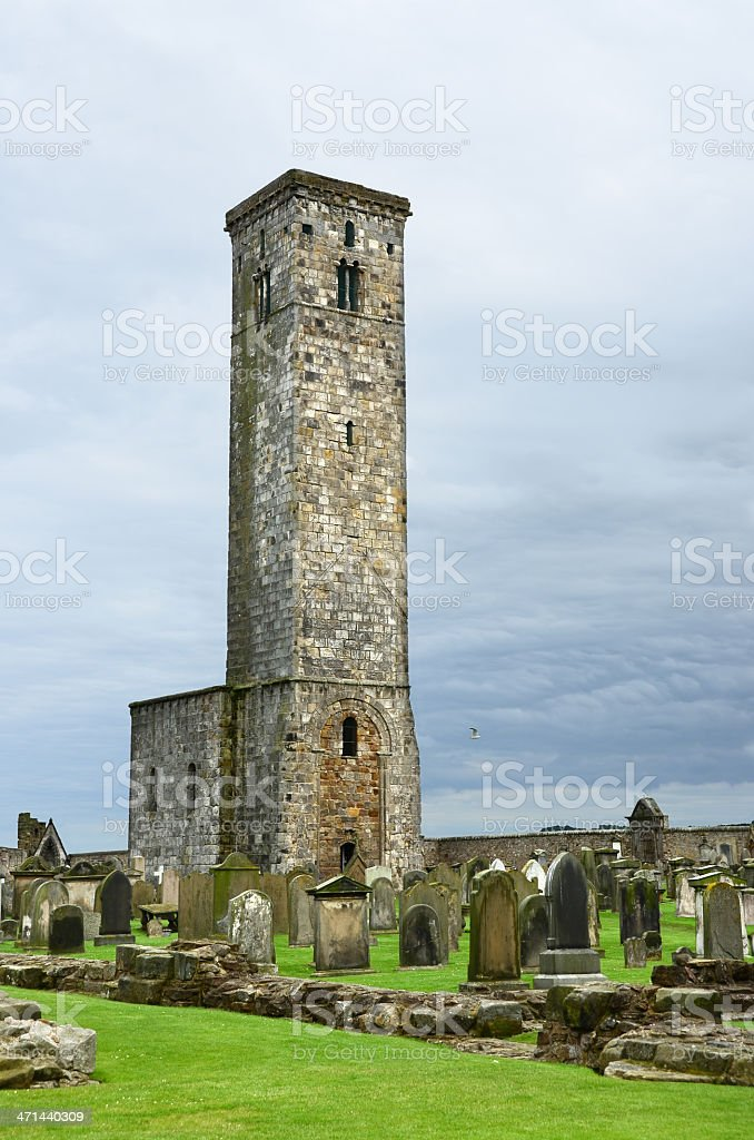 St. Rule's Tower in Saint Andrews royalty-free stock photo