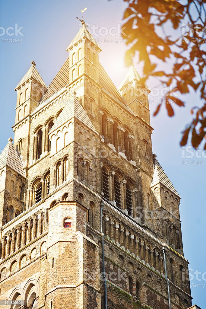St. Salvator's Cathedral, Bruges, Belgium stock photo