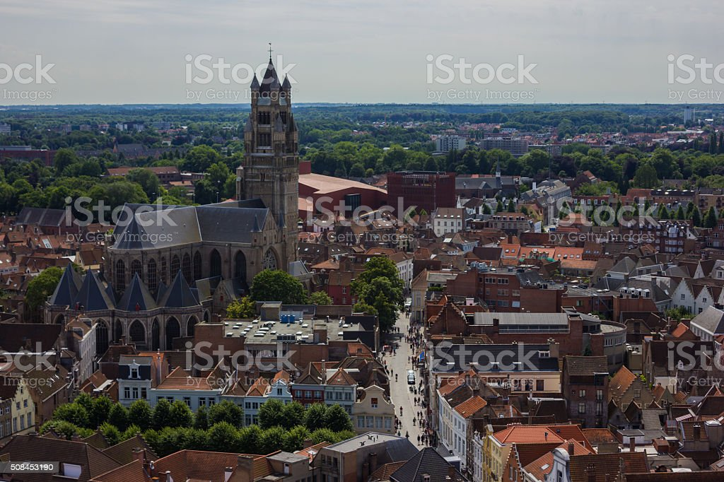 St. Salvator's Cathedral I stock photo