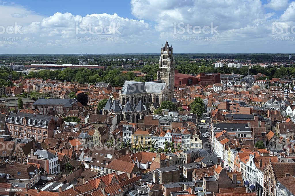 St. Salvator's Cathedral in Bruges, Belgium stock photo
