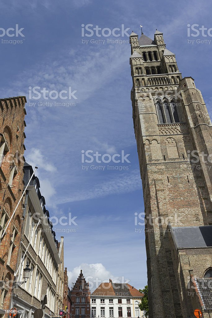 St. Salvator's Cathedral stock photo