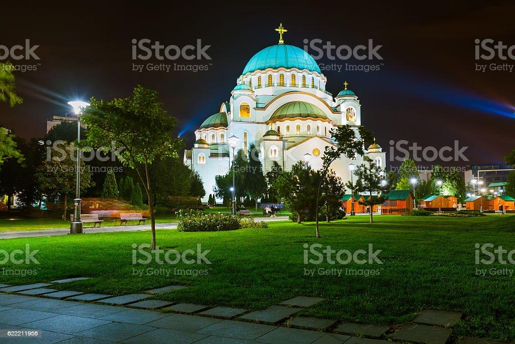 St. Sava Cathedral - Belgrade - Serbia stock photo