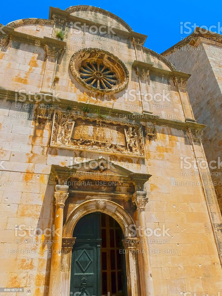 Dubrovnik, Croatia - June 07, 2015: St. Saviour - a stock photo