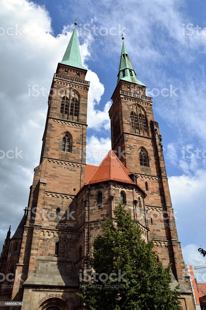 St. Sebaldus Cathedral, Nurnberg Altstadt Germany stock photo