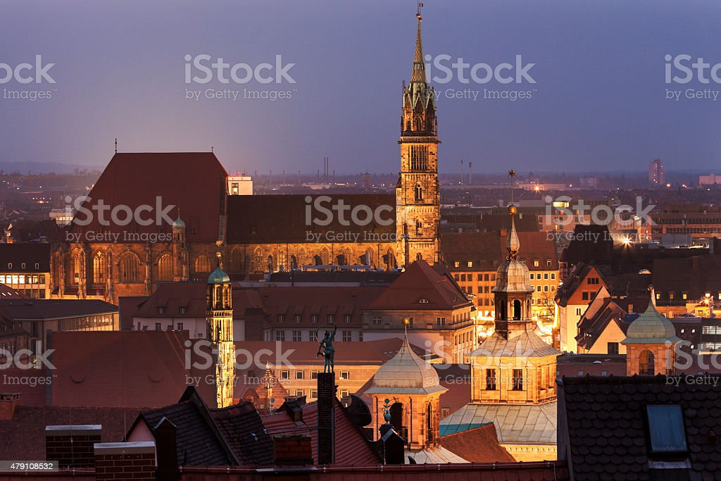 St. Sebaldus Church in Nuremberg stock photo