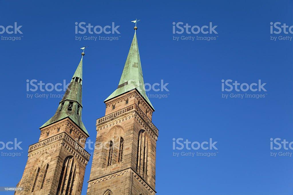 St. Sebaldus Church, Nuremberg (N?rnberg), Germany XXXL stock photo