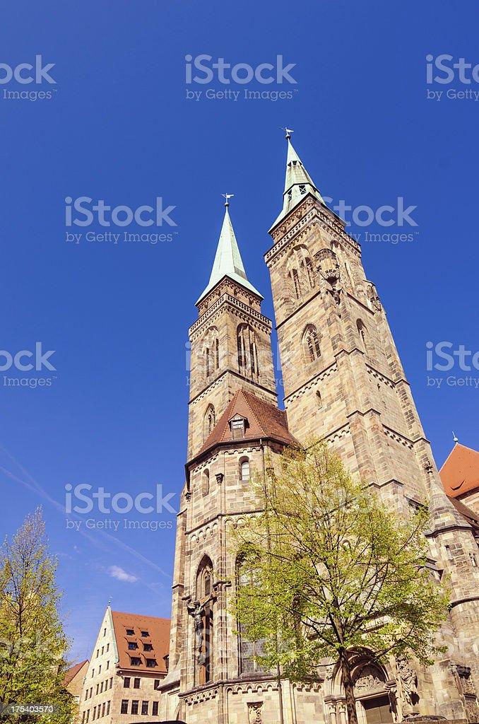 St Sebaldus Church Nuremberg stock photo