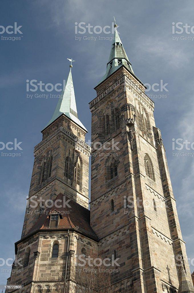 St Sebaldus Church stock photo