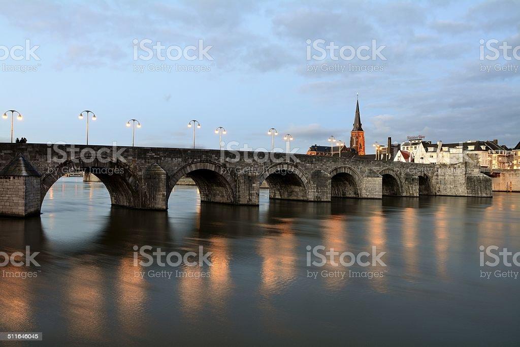St. Servatius Bridge stock photo