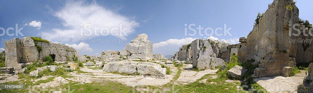 St. Simeon Monastery, Antakya, Turkey stock photo