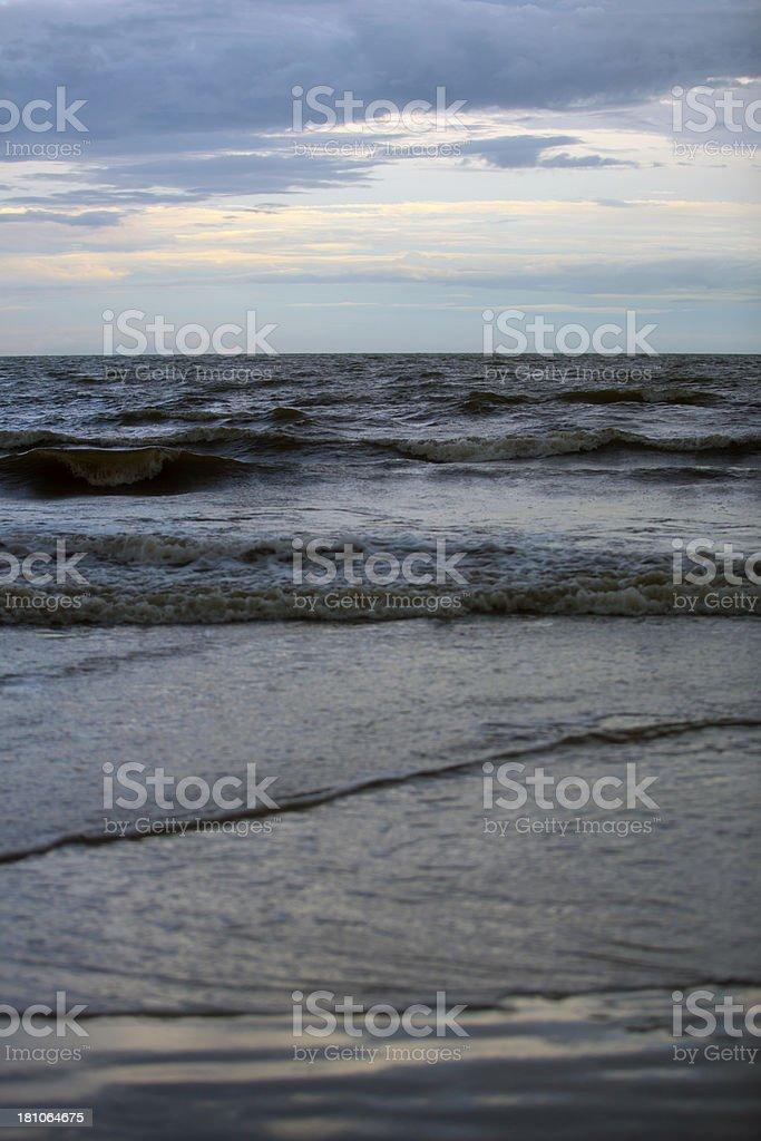 St. Simons Island Beach royalty-free stock photo