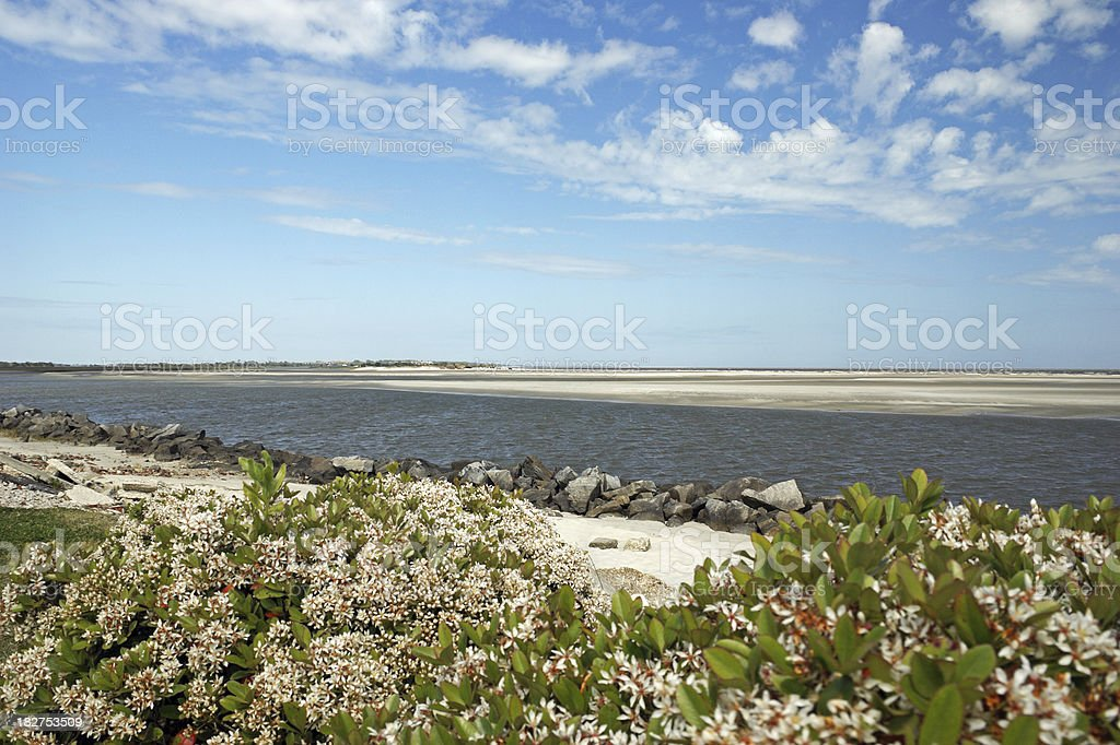 St. Simons Island East Beach Georgia stock photo