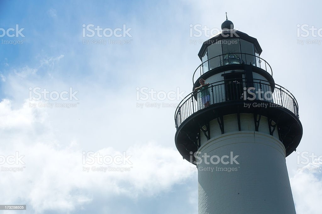 St Simons Island Lighthouse stock photo